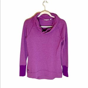 Athleta Tranquility Cowl Neck Sweater Purple
